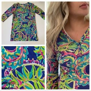 Lily Pulitzer Girls Palmetto Dress Toucan Play